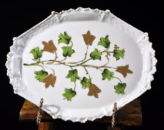 Beautiful Ivy Dresser Tray, China, English, Vintage Tray, porcelain Made in England, Great gift idea #1835