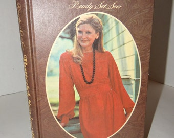 """Vintage First Edition/Published 1971 """"Ready Set Sew The Butterick Sewing Book"""" Hardcover Book -Instructions How to Sew- Sewing Instructions"""