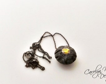 Black and Gold Keum Boo Necklace