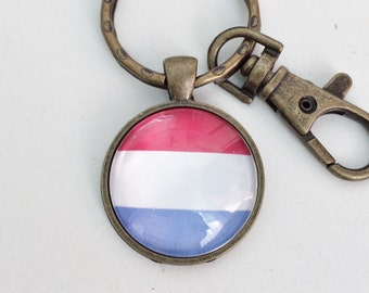 Luxembourg Flag Key Chain Bag Charm KC122