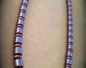 Men's Magnetic Necklace with Copper Accents ~