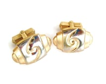 Vintage Anson Silver and Gold Tone MOD Cufflinks