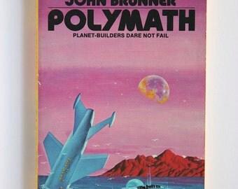 Vintage Scifi, Polymath by John Brunner 1974 Paperback Daw Books Science Fiction No. 85 VPRB01430