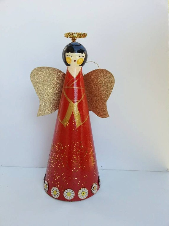 Personalized Angel Tree Topper Christmas Angel By Gogaga4art