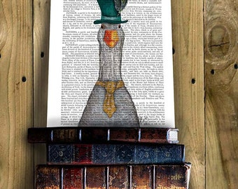 Nursery Art for Kids Room Décor - Goose in Green Hat - boys nursery art girls nursery art kids wall print childrens wall art childrens décor