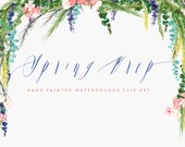 Watercolour Hand Painted Clip Art - Spring Drop