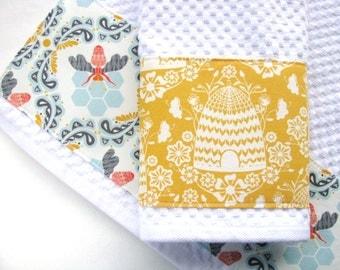 Amazing Kitchen Towel Set Bees, Set Of 2, Kitchen Towels, Hand Towels, Bee