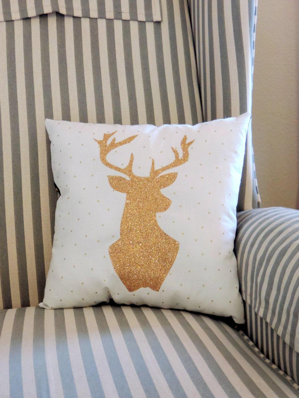 Https Etsy Com Listing 231511810 Glitter Gold Deer Silhouette Home Decor