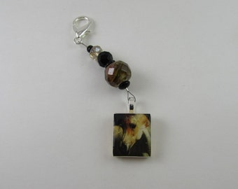 Petite beaded Scissor Fob or purse charm from Designs by Lisa