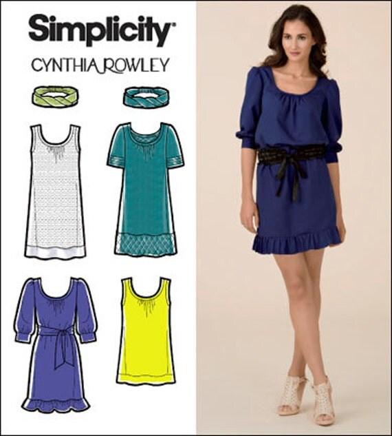 Cynthia Rowley Sewing Patterns: 2000s DRESS PATTERN Tunic Patterns Tops Bust 30.5 31.5 32.5 34