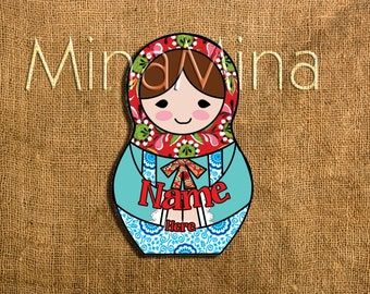 Matrioska Russian doll stickers SET OF 15