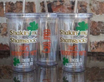 Shakin My Shamrocks St. Patricks Day Bachelorette Party Tumbler 16 ounce