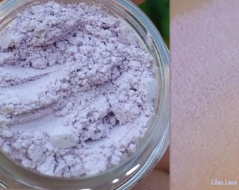 LILAC LACE Mineral Matte Eyeshadow, Brow Highlighter Makeup -All Natural, Vegan Friendly