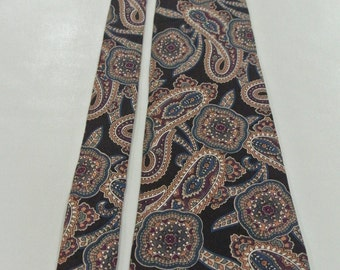 1980s GIVENCHY Paisley Necktie E