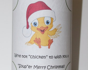 "What a ""Soup""er Christmas Neighbor Gift Tag"