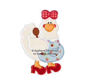 Cooking in the Kitchen Chicken Embroidery Applique - Instant EMAIL With Download - 3 sizes - for Embroidery Machines