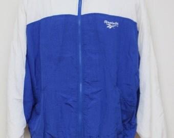 "Rare 90's Vintage ""REEBOK"" Color Blocked Windbreaker Jacket Sz: X-LARGE (Men's Exclusive)"
