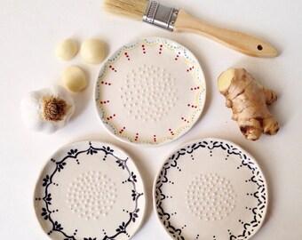 1 Ginger Garlic Grater, Home, Chef Tool, Cooking, Kitchen, Potato, Pasta, Mincer, Cutter, Scraper, Porcelain, Party, Wedding Gift, Flavor