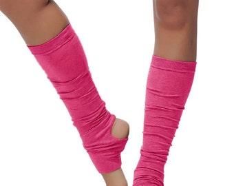 Alinamalina Dance and Yoga Socks - Pink Leg Warmers - Dance and Yoga Spats