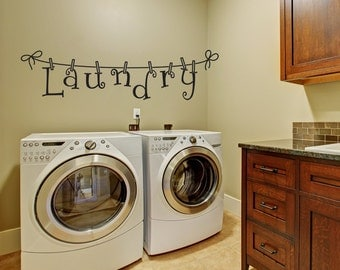 laundry wall decal wall decal laundry room decor laundry decal wall decals - Laundry Room Decor