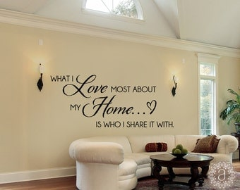 Family Wall Decals - Home Quote Wall Decal - Wall Decal - Vinyl Wall Decals- Wall Decor - Decal - Family Quotes Wall Decals
