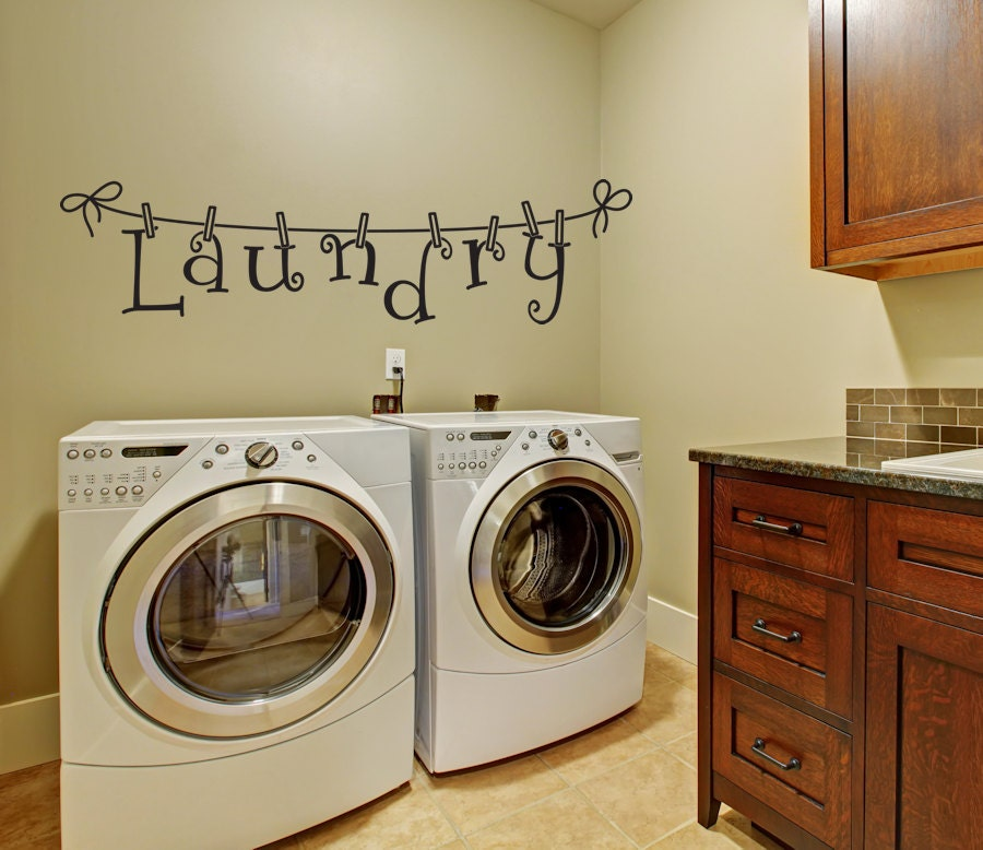 Laundry Wall Decal Wall Decal Laundry by AmandasDesignDecals