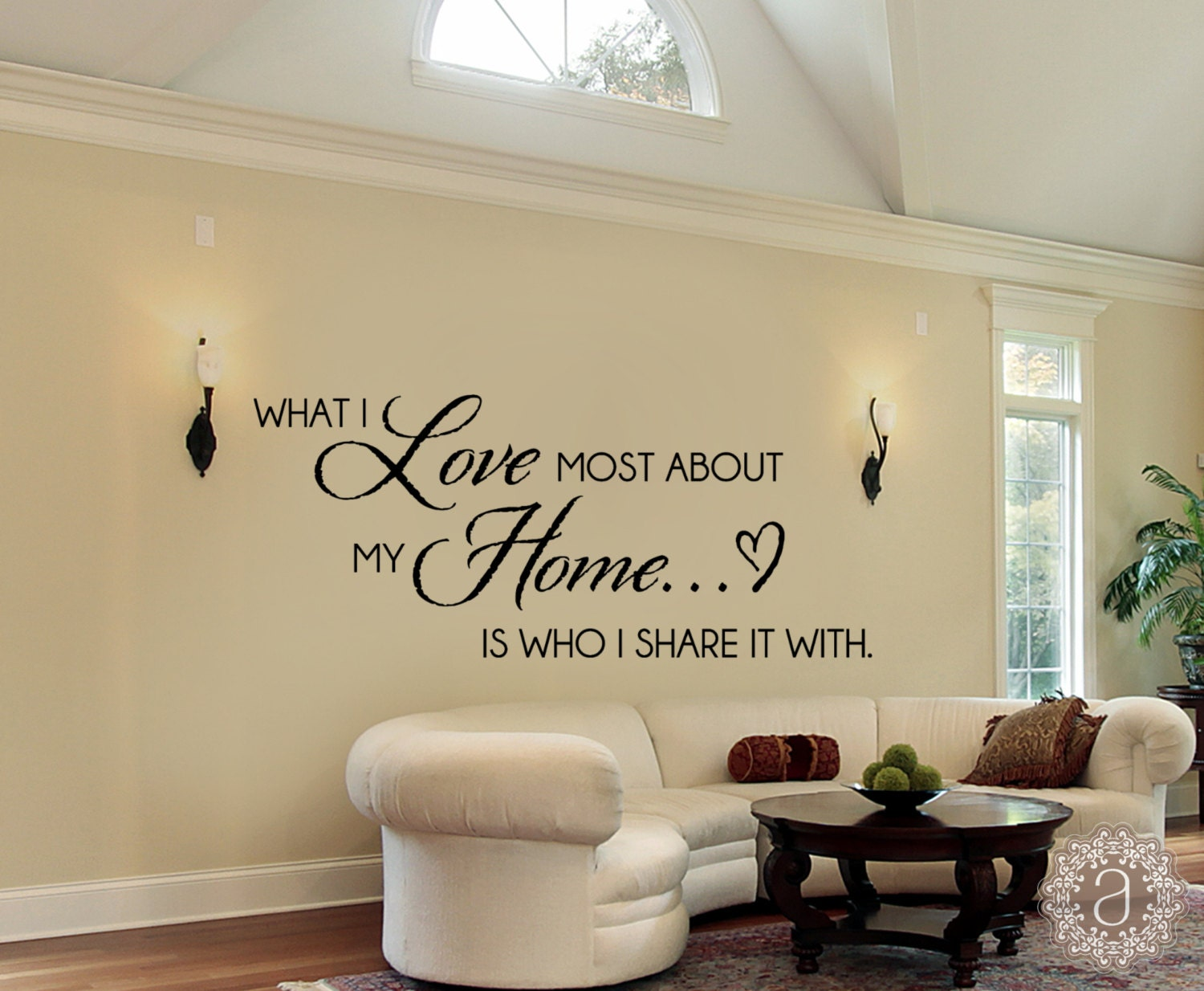 Family wall decals home quote wall decal wall decal for Home decor quotes on wall