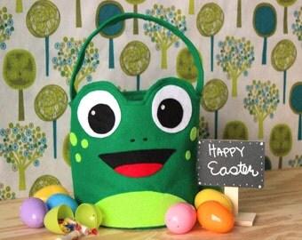 Monogrammed Frog Easter Basket