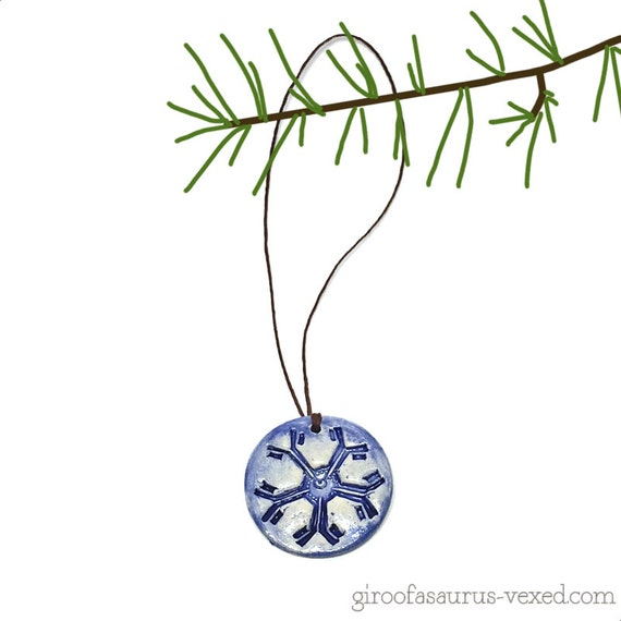 Christmas ornament, Immunoglobulin M pentamer, pottery holiday ornament for scientists