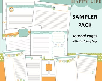 LIMITED EDITION: Printable Daily Planner Pages Happy Owls
