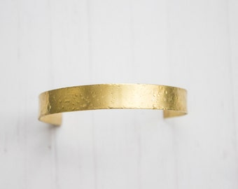 Hammered Brass Adjustable Cuff