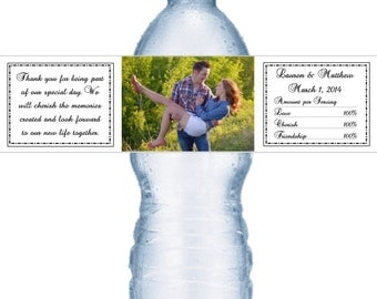 49 Photograph Wedding Water Labels
