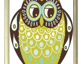 Father Owl Cartoon Fridge Magnet 7cm by 4.5cm,