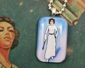 Princess Leia Fortune Teller Glass Pendant Necklace