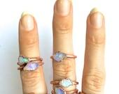 Raw opal ring   Australian opal ring   Rough opal ring   Australian fire opal jewelry   Fire opal ring   Rough Australian opal ring