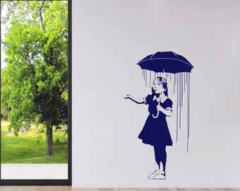 Banksy Wall Decal - Long Way Home - Banksy Sticker - Banksy Art - Home Wall Decor - Vinyl Wall Stickers - BA025