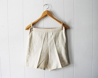 Vintage 60s Scotties by Cromwell Mills White Cream Shorts Size Small