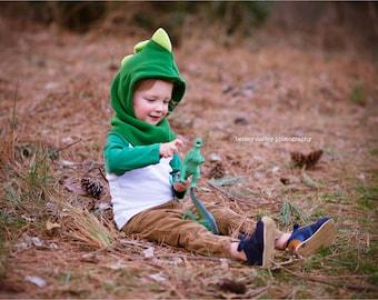 Dino Hooded Scarf, Dinosaur Costume Hat, Children Dino Hat