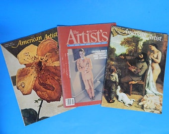 Lot of 3 Artist Magazines (1974, 75, and 84) Painting, Drawing, Colored Pencils
