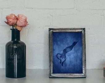 Squid Print, Squid Art, Nautical Print, Nautical Art, Wall Decor, Art Print, Ocean Gifts, Home Decor, Beach House Decor, 4 x 6, 5 x 7