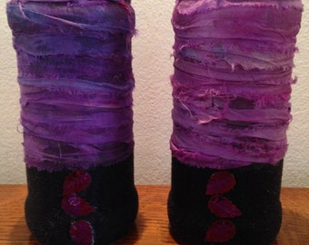 Rich and vibrant purple jars