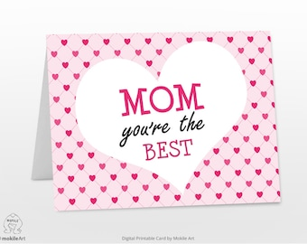 Mothers day,printable for mom, birthday card, for mom,Printable card ,Card For Mom, printable card ,Love card, Digital file ,gift for mom