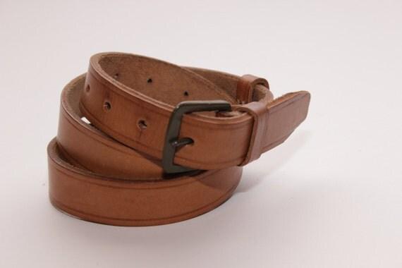 light brown leather belt mens vintage 1950 s by