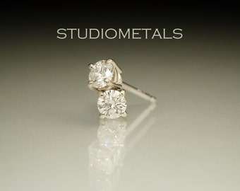 Diamond Earrings, Diamond Studs, Diamond Stud Earrings, White Gold Diamond Studs, Real Diamond Earrings, Conflict Free Diamonds, E582