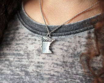 Minnesota Necklace - Home State Apparel Minnesota Home Necklace Charm