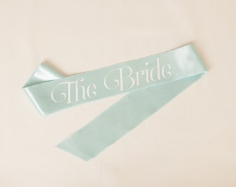 Bachelorette Sash, Bride-To-Be Sash, Custom Sash,  - Frosty Ice, Snow Flake Theme