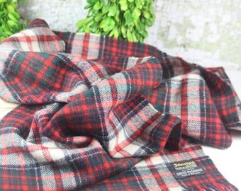 Vintage Johnston's of Elgin Wool Tartan Plaid Scottish Scarf / 100% Wool