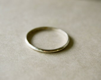 Smooth Polished Sterling Silver Stacking Ring, Thin 1.5mm Band - One Ring, Hammered and Textured - Single, Simple, Elegant Gift twoblindmice