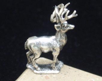 Stag Deer Charm Vintage Sterling Silver