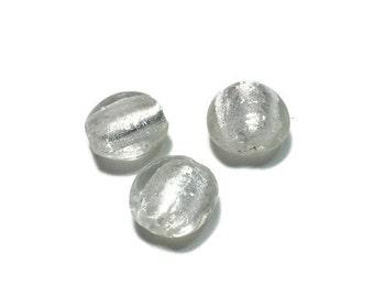 Round Murano Venetian Glass Small Round Puff Beads 15mm 3pcs